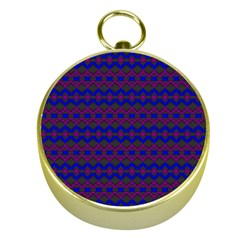 Split Diamond Blue Purple Woven Fabric Gold Compasses by Mariart