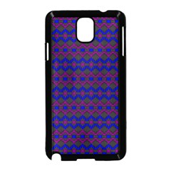Split Diamond Blue Purple Woven Fabric Samsung Galaxy Note 3 Neo Hardshell Case (black) by Mariart