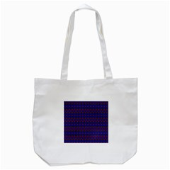 Split Diamond Blue Purple Woven Fabric Tote Bag (white) by Mariart