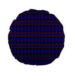 Split Diamond Blue Purple Woven Fabric Standard 15  Premium Flano Round Cushions by Mariart