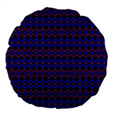 Split Diamond Blue Purple Woven Fabric Large 18  Premium Flano Round Cushions by Mariart