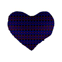 Split Diamond Blue Purple Woven Fabric Standard 16  Premium Flano Heart Shape Cushions by Mariart