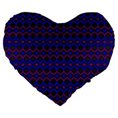 Split Diamond Blue Purple Woven Fabric Large 19  Premium Flano Heart Shape Cushions by Mariart