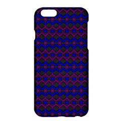 Split Diamond Blue Purple Woven Fabric Apple Iphone 6 Plus/6s Plus Hardshell Case by Mariart