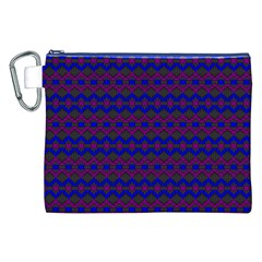 Split Diamond Blue Purple Woven Fabric Canvas Cosmetic Bag (xxl) by Mariart