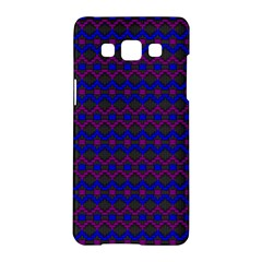 Split Diamond Blue Purple Woven Fabric Samsung Galaxy A5 Hardshell Case  by Mariart