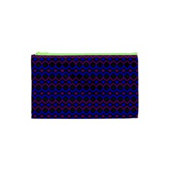 Split Diamond Blue Purple Woven Fabric Cosmetic Bag (xs) by Mariart