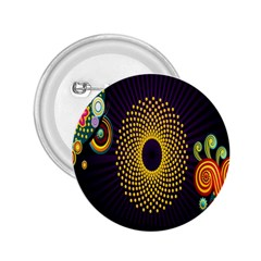 Polka Dot Circle Leaf Flower Floral Yellow Purple Red Star 2 25  Buttons by Mariart