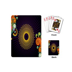 Polka Dot Circle Leaf Flower Floral Yellow Purple Red Star Playing Cards (mini)  by Mariart