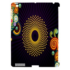 Polka Dot Circle Leaf Flower Floral Yellow Purple Red Star Apple Ipad 3/4 Hardshell Case (compatible With Smart Cover) by Mariart