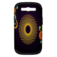 Polka Dot Circle Leaf Flower Floral Yellow Purple Red Star Samsung Galaxy S Iii Hardshell Case (pc+silicone) by Mariart