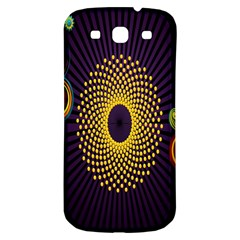 Polka Dot Circle Leaf Flower Floral Yellow Purple Red Star Samsung Galaxy S3 S Iii Classic Hardshell Back Case by Mariart