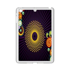 Polka Dot Circle Leaf Flower Floral Yellow Purple Red Star Ipad Mini 2 Enamel Coated Cases by Mariart