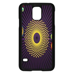 Polka Dot Circle Leaf Flower Floral Yellow Purple Red Star Samsung Galaxy S5 Case (black)