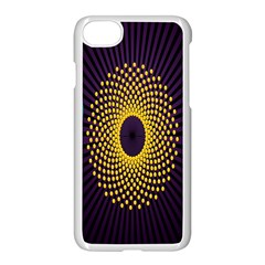 Polka Dot Circle Leaf Flower Floral Yellow Purple Red Star Apple Iphone 7 Seamless Case (white) by Mariart
