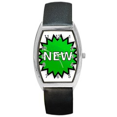 New Icon Sign Barrel Style Metal Watch by Mariart