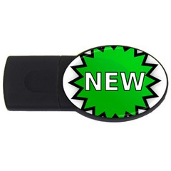 New Icon Sign Usb Flash Drive Oval (4 Gb) by Mariart