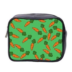 Carrot Pattern Mini Toiletries Bag 2 Side by Valentinaart