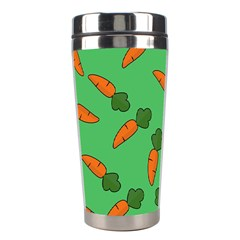 Carrot Pattern Stainless Steel Travel Tumblers by Valentinaart