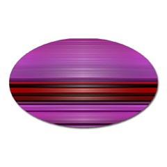 Stripes Line Red Purple Oval Magnet by Mariart