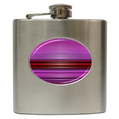 Stripes Line Red Purple Hip Flask (6 Oz) by Mariart