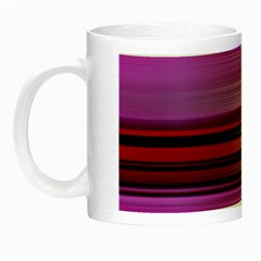 Stripes Line Red Purple Night Luminous Mugs by Mariart