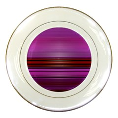 Stripes Line Red Purple Porcelain Plates by Mariart
