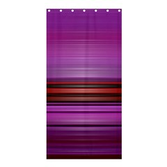 Stripes Line Red Purple Shower Curtain 36  X 72  (stall)  by Mariart