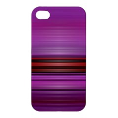 Stripes Line Red Purple Apple Iphone 4/4s Premium Hardshell Case by Mariart