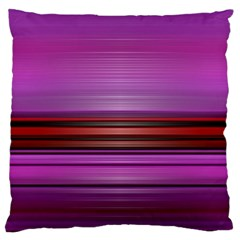 Stripes Line Red Purple Large Cushion Case (two Sides) by Mariart
