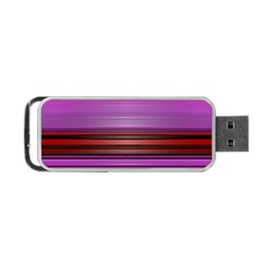 Stripes Line Red Purple Portable Usb Flash (one Side) by Mariart