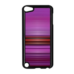 Stripes Line Red Purple Apple Ipod Touch 5 Case (black) by Mariart