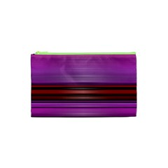 Stripes Line Red Purple Cosmetic Bag (xs) by Mariart