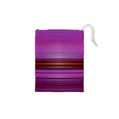 Stripes Line Red Purple Drawstring Pouches (xs)  by Mariart