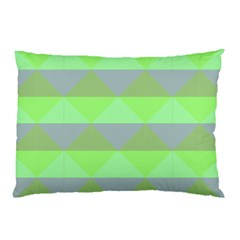Squares Triangel Green Yellow Blue Pillow Case by Mariart