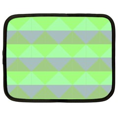Squares Triangel Green Yellow Blue Netbook Case (xl)  by Mariart