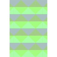 Squares Triangel Green Yellow Blue 5 5  X 8 5  Notebooks by Mariart