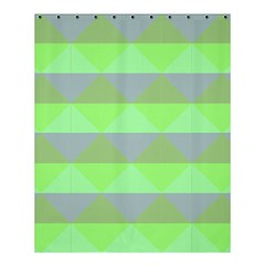 Squares Triangel Green Yellow Blue Shower Curtain 60  X 72  (medium)  by Mariart