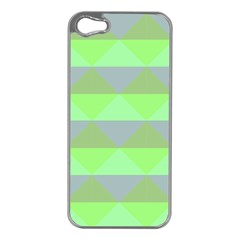 Squares Triangel Green Yellow Blue Apple Iphone 5 Case (silver) by Mariart