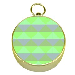 Squares Triangel Green Yellow Blue Gold Compasses by Mariart