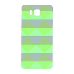 Squares Triangel Green Yellow Blue Samsung Galaxy Alpha Hardshell Back Case by Mariart