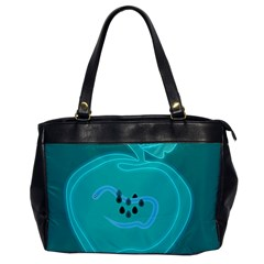 Xray Worms Fruit Apples Blue Office Handbags by Mariart