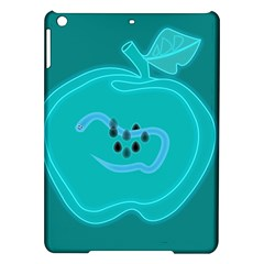 Xray Worms Fruit Apples Blue Ipad Air Hardshell Cases by Mariart