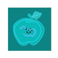 Xray Worms Fruit Apples Blue Small Satin Scarf (square) by Mariart
