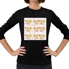 Floral pattern Women s Long Sleeve Dark T-Shirts