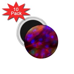 Vaccine Blur Red 1 75  Magnets (10 Pack)  by Mariart