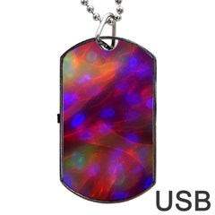 Vaccine Blur Red Dog Tag Usb Flash (one Side) by Mariart