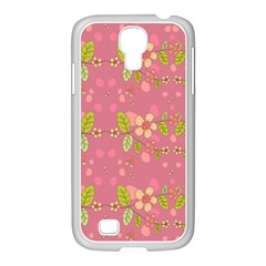 Floral Pattern Samsung Galaxy S4 I9500/ I9505 Case (white) by Valentinaart