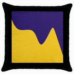 Purple Yellow Wave Throw Pillow Case (black) by Mariart