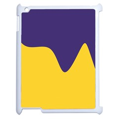 Purple Yellow Wave Apple Ipad 2 Case (white) by Mariart